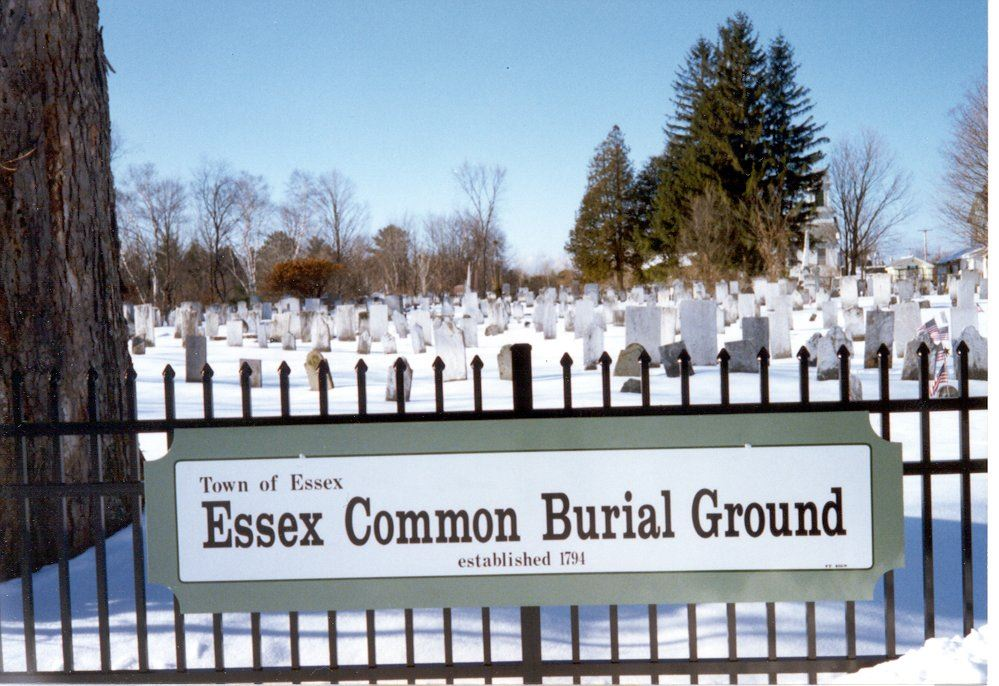 Essex Common Burial Ground in Snow